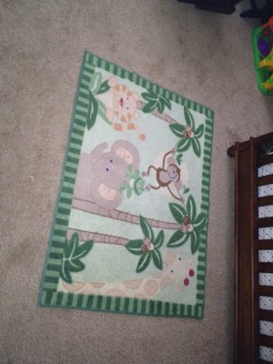 Rugs  Baby Room on Baby Room Monkey Rug   Baby   Kids For Sale On Polk Bookoo